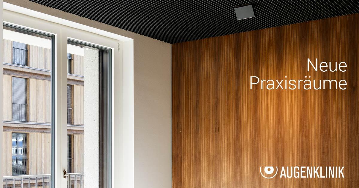 Neue Praxisräume für die Augenklinik Zürich West